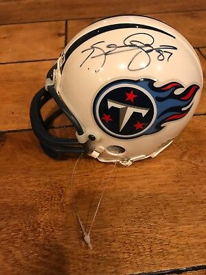 TENNESSEE TITIANS SIGNED by Kevin Dyson AUTO RIDDELL MINI HELMET COA