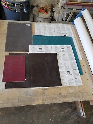 Mixed Lot Of 35 Various Sized Sheets Of Gravotac 2-plex By Gravograph