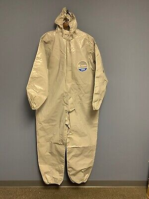 2-PK Kappler Z2B428 Zytron 200 Coverall w/Hood & Elastic Wrists and Ankles LG/XL