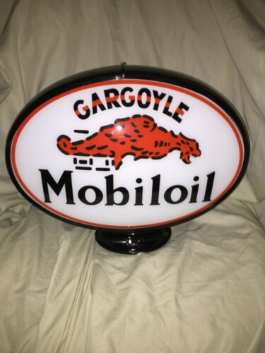GARGOYLE OVAL GAS PUMP GLOBE - BLACK BODY