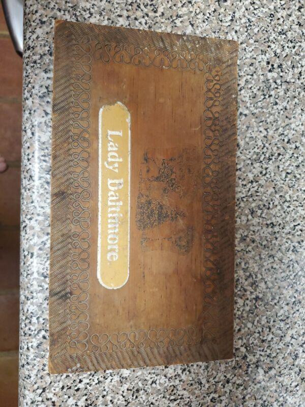 Antique Wood Candy Box Lady Baltimore bon bons