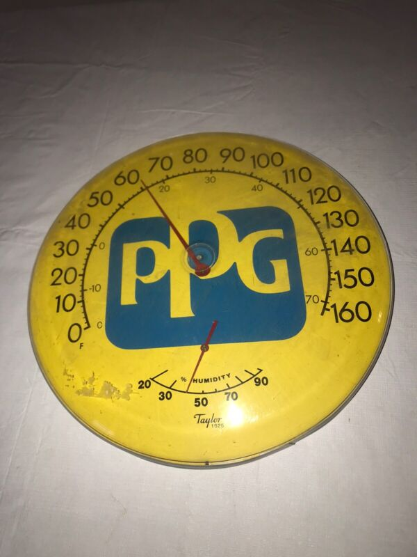 """Working Vintage Original Pittsburgh Paints 18"""" Thermometer PPG Paints Rare Item!"""