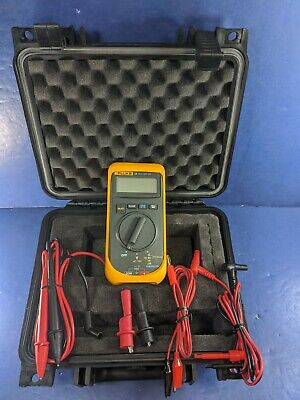 Fluke 16 Multimeter Very Good Hard Case Accessories Screen Protector