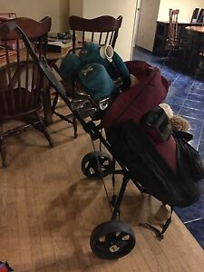 Women's golf clubs with bag and cart