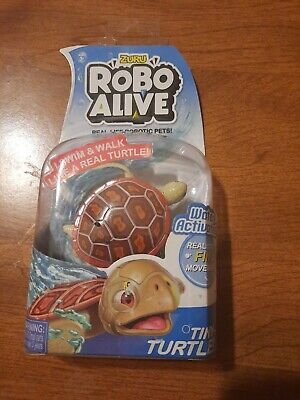 Robo Alive Robotic Pets Red Wood Turtle New
