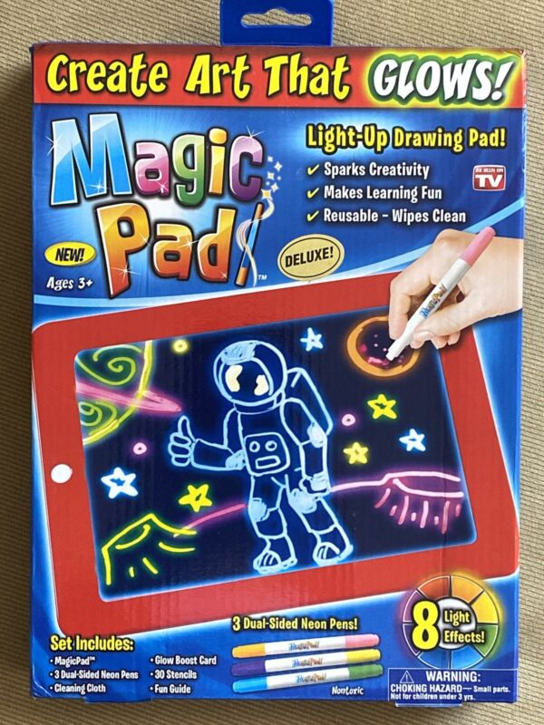 Magic Pad Draw Sketch Light Up LED Board Create Doodle Dry Erase As Seen On TV