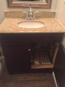"""Great condition! New price! 31"""" vanity with granite counter top"""