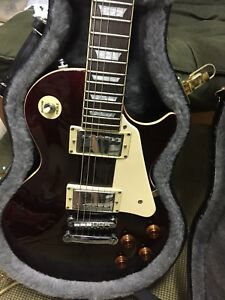 Epiphone les Paul Standard Red wine