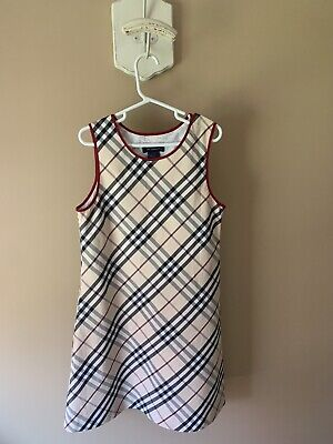 Childrens Girls Designer Burberry Dress Cute Stylish Fashionable Size 8 Youth