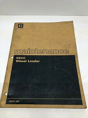 Caterpillar Cat 980c Wheel Loader Maintenance Manual 63x1-up Sebu5575-03