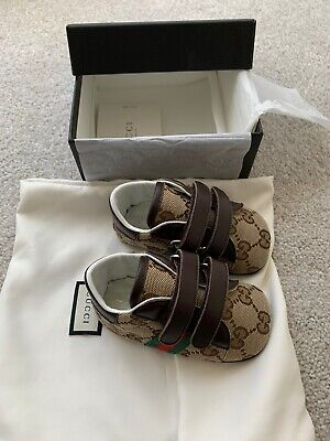 Genuine Gucci Baby Ace Orginal GG Sneaker Size 18