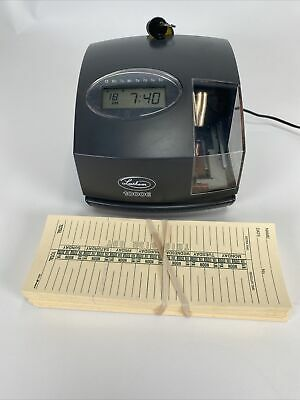 Lathem 1000e Electronic Time Recorder Time Clock Document Stamp W Key W Cards