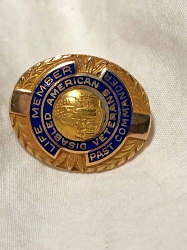 Disabled American Veterans Lapel Pin Screw Back DAV Blue Porcelain Enamel