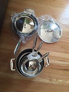 12 pc stainless steel Lagostina pots and pan