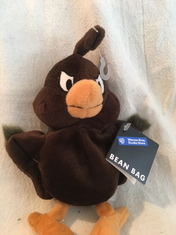 "Vtg 1998 Warner Bros Studio Store Henry Hawk 8"" Bean Bag Plush W/ Tags"