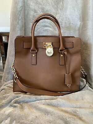 Authentic Michael Kors Hamilton Leather Handbag Satchel