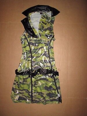 Womens ARMY Sexy Halloween Costume S Sm  - Army Halloween Costume Women