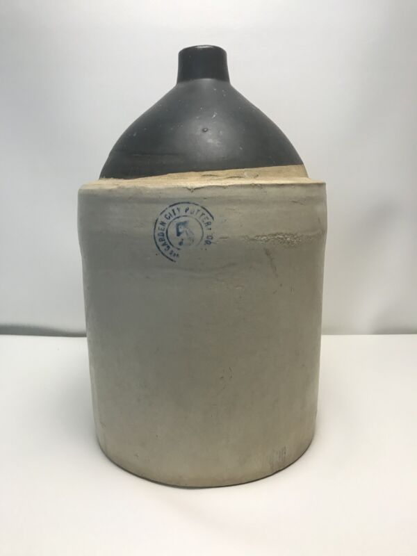 5 Gallon Garden City Pottery Co. #5 San Jose Crock Jug Moonshine Whiskey