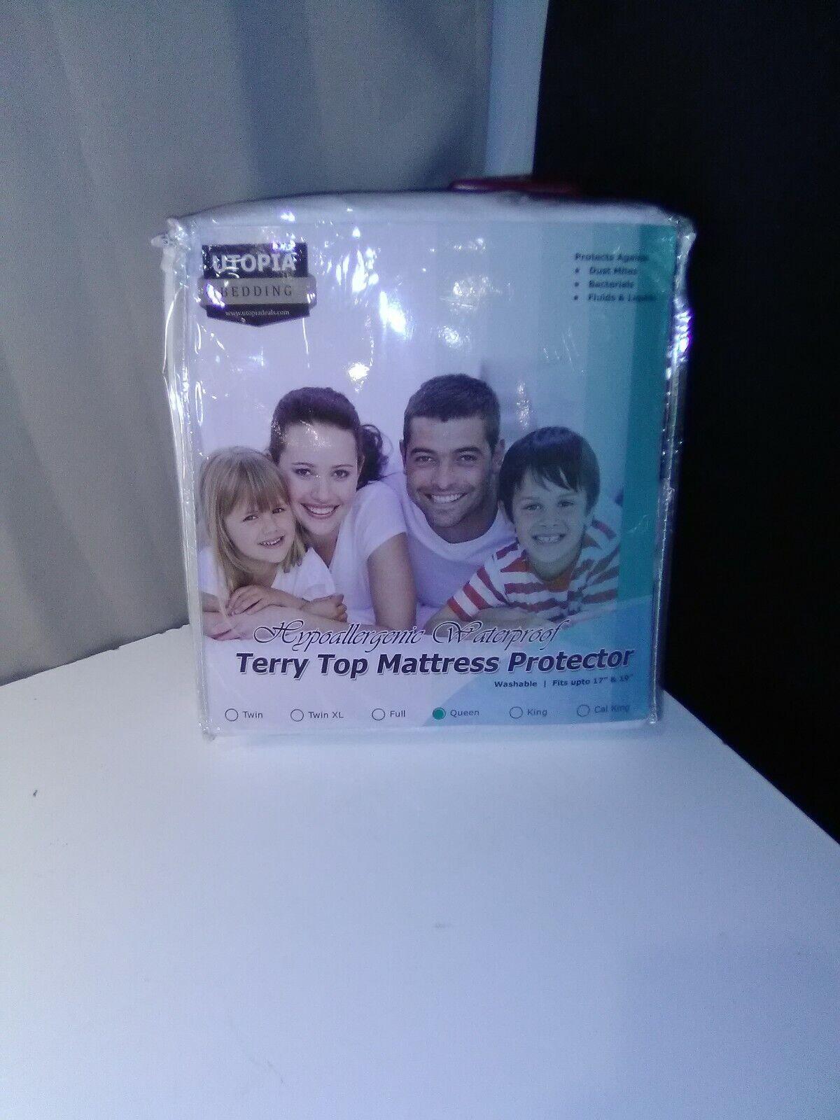 New, Utopia Bedding Hypoallergenic Waterproof Terry Top Matt