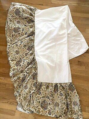 "Ralph Lauren Marrakesh Rug multi color Paisley Twin Bed skirt dust ruffle 17"""
