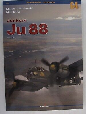Junkers Ju 88 volume 3 (Monographs 3D Edition) by Kagero for sale  Gettysburg