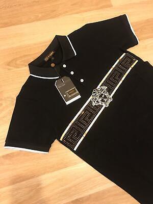 Nwt Mens Black and Gold Versace Medusa Classic Short sleeve T Shirt