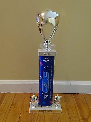 ELITE DANCE CHALLENCE TALENT COMPETITION TROPHY AWARD MISS ELITE TITLE GOLD STAR - Gold Star Trophies