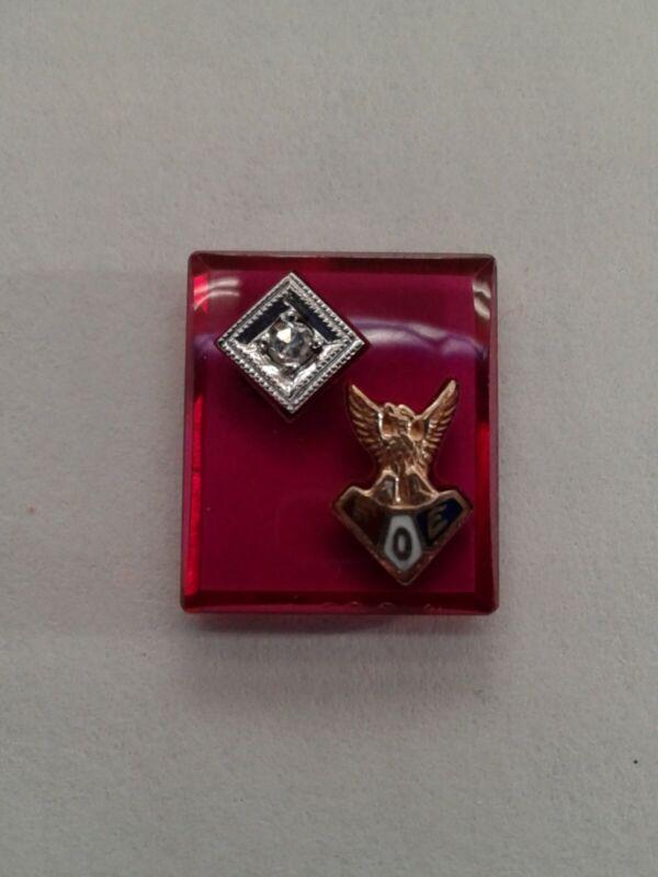 FOE Fraternal Order Of The Eagles Ring Gemstone Diamond