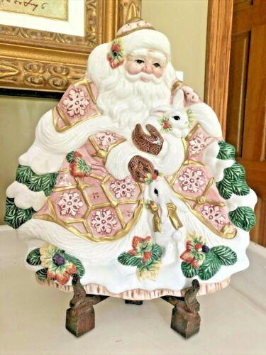 Fitz & Floyd Snowy Woods 1996 Christmas Santa Plate