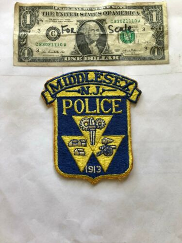 Middlesex New Jersey Police Patch un-sewn Great Shape