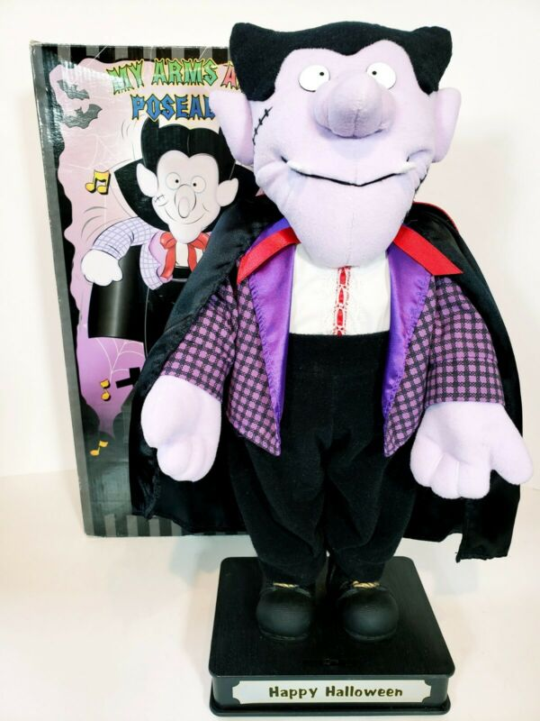 Happy Holloween Dancing Vampire TL Toys Tested Working Sings Trick or Treat Blue