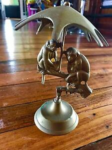 Rare Vintage antique brass monkeys decorative mantel piece Cessnock Cessnock Area Preview