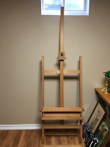 Wooden artists easel