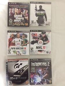 Jeux de PS3 $5 chaque - PS3 games $5 each