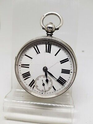 Antique solid silver gents fusee J. LAMB pocket watch 1865 working ref1218
