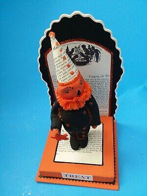 VTG Dee Foust Bethany Lowe Designs Paper Mache Papier Halloween Pumpkin Man HTF