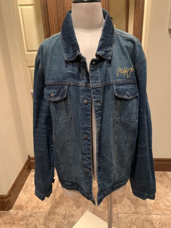 Billy Joel In Concert Blue Jean Denim Jacket Gently Used 2X (27)