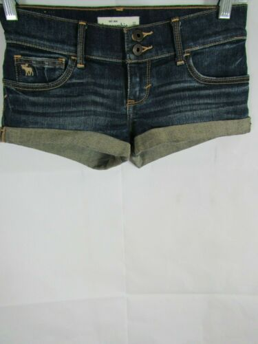 abercrombie & Fitch Kids Girl Jean Shorts Size 12 Mini Sandblasted Cuffed Denim