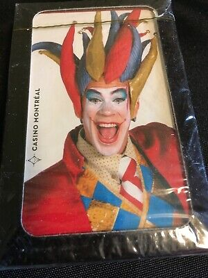 Montreal Casino Unused Sealed Playing Cards Costume Clown Person Jester Joker - Card Joker Costume
