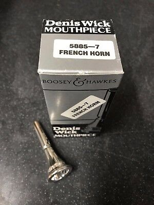 Denis Wick 7 French Horn Mouthpiece-New,Unused Silver Plated-