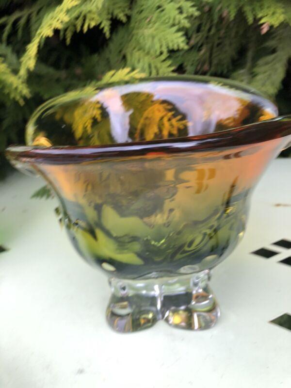 czech bohemian glass vase Josef Hospidka Chribska