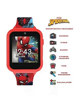 Spider-Man Interactive Kids Smart Watch iTime 40mm Marvel Comics Games Camera
