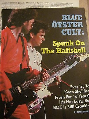 Blue Oyster Cult, Two Page Vintage Clipping