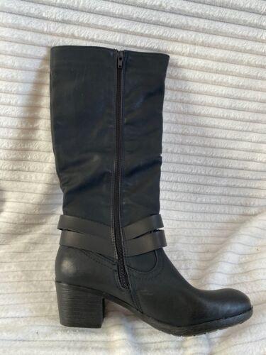 Ladies+%22Safran%22+Style+LX02334+-+Black+Full+Length+Flat+Boots+-+Size+4