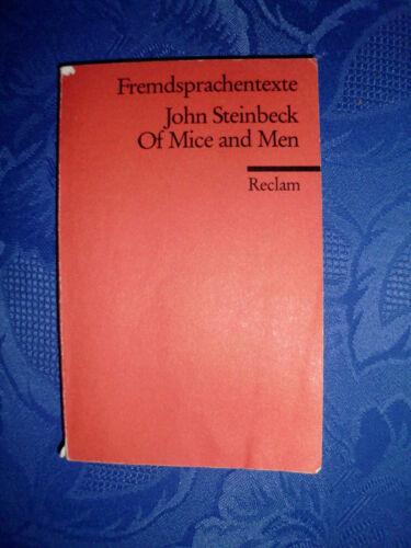 Buch Roman Taschenbuch Englisch Of Mice and Men John Steinbeck ISBN 3150092531