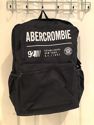 NWT Authentic Abercrombie Kids Boy Navy Black Backpack $49.95