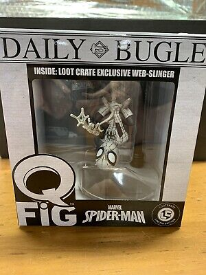 Marvel Loot Crate Exclusive Black & White Variant Hanging Spider-Man Q-Fig