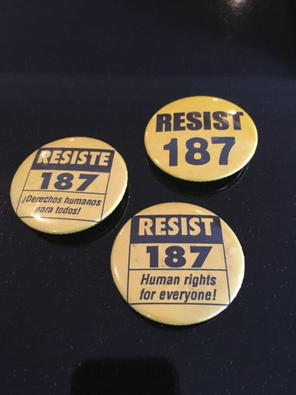 Assorted State Of CA Proposition Political Pins