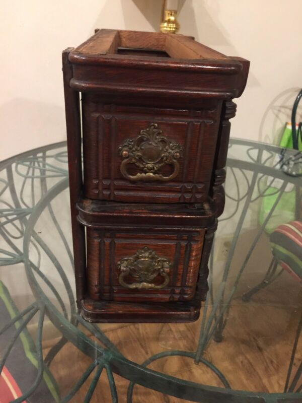 ANTIQUE TREADLE SEWING MACHINE DRAWERS  AWESOME