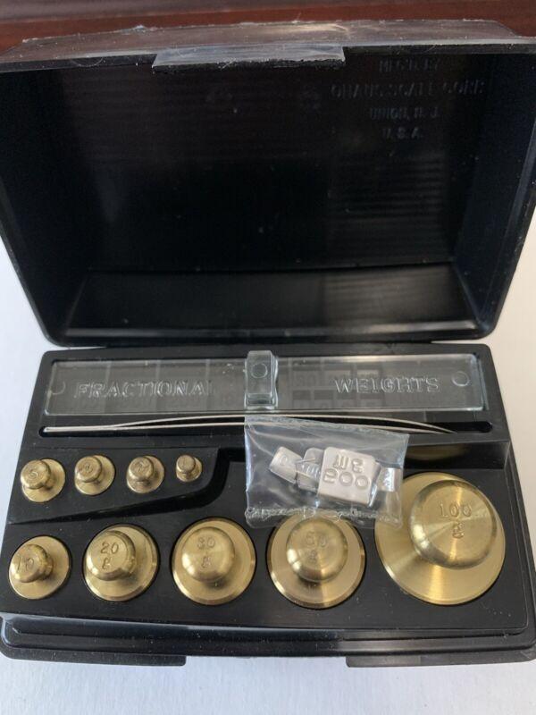 Ohaus Solid Brass Metric Weight Set 500mg-100g 24 piece Set